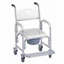 Silla baño con ruedas y orinal acoplado