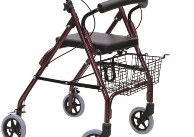 andador rollator con freno manual